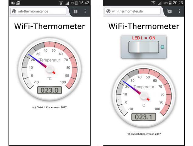 WiFi-Thermometer (Access-Point-Modus)