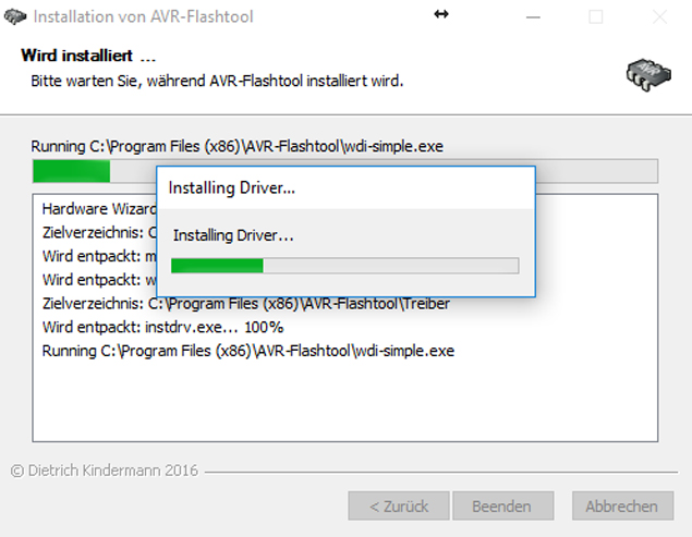 Flashtoolinstallation mit wdi-simple