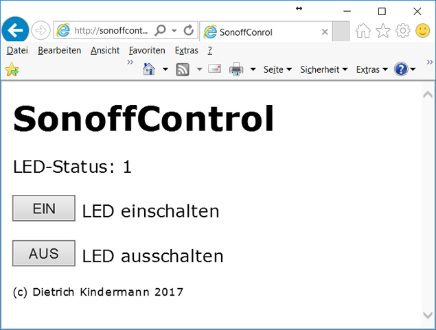 SonoffControl (Version 1)